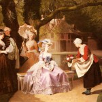 Marie-Antoinette-And-Louis-Xvi-In-The-Garden-Of-The-Tuileries-With-Madame-Lambale