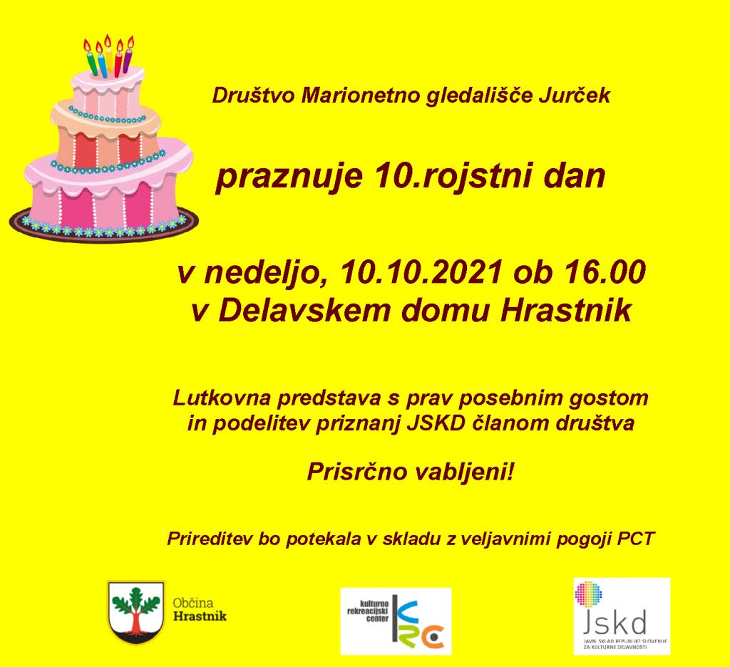 Vabilo 10.rojstni dan društva za splet
